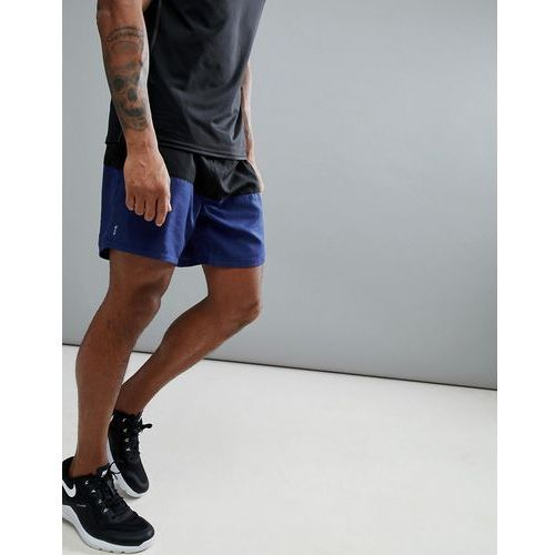 sport shorts with colour blocking in black and navy - navy, New look