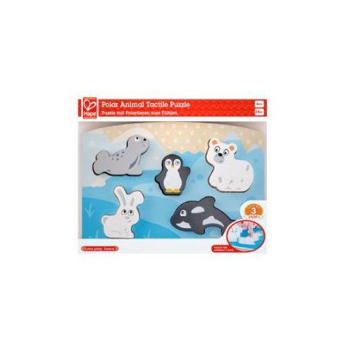 puzzle dotykowe, zwierzęta polarne marki Hape