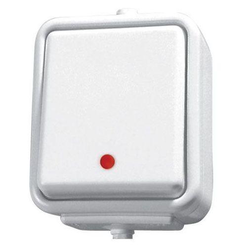 Łącznik jednobiegunowy hermetyczny natynkowy z podświetleniem WNt-100CS CEDAR biały SCHNEIDER (5904093005957)