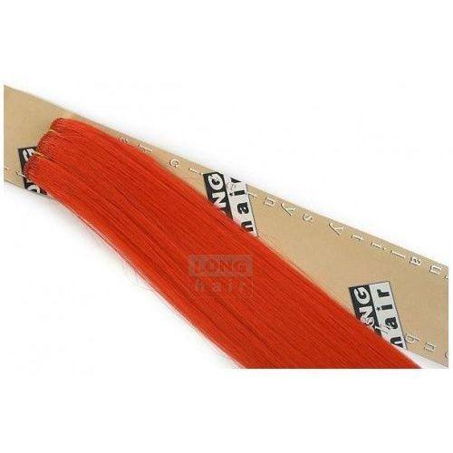 Włosy na zgrzewy syntetyczne - Kolor: #red - 20 pasm