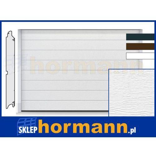 Hormann Brama renomatic light 2018, 5000 x 2250, przetłoczenia m, woodgrain, kolor do wyboru: biały, brązowy, antracytowy