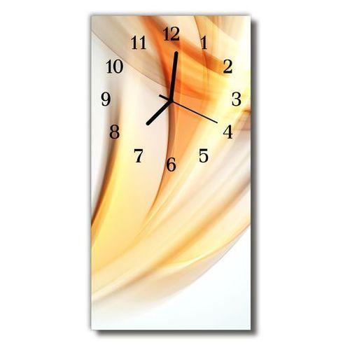 Zegar Szklany Pionowy Sztuka Abstrakcja linie pomarańczowy, kolor pomarańczowy