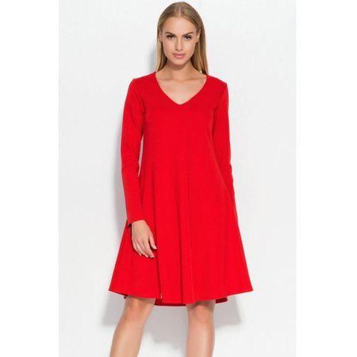Makadamia Sukienka model m326 red