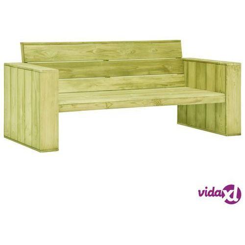 vidaXL Ławka ogrodowa, 179 cm, impregnowane drewno sosnowe
