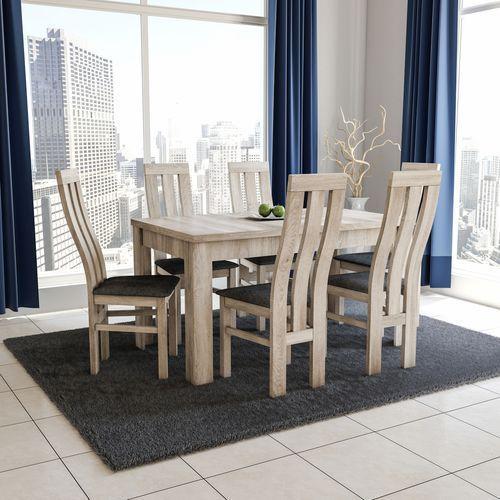 Zestaw TANI TRWAŁY stół z 6 krzesłami K-32a