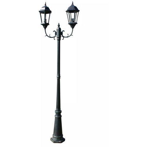 vidaXL Lampa ogrodowa, stojąca 230 cm ciemnozielona/czarna
