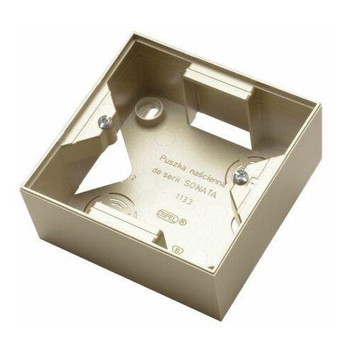 Ospel sonata pnp-1r/39 puszka instalacyjna do serii sonatapojedyncza szampański złoty (5907577472375)