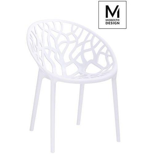 MODESTO krzesło KORAL białe - polipropylen (5900168815988)
