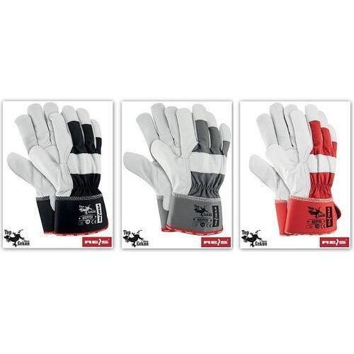 Rękawice robocze wzmacniane skórą licową rhipper rozmiar 10 marki R.e.i.s.