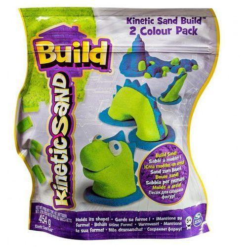 Spin master Piasek kinetic sand build konstrukcyjny 2 kolory zielony-niebieski 454g  5909980z