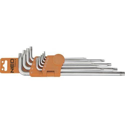 Neo Zestaw kluczy pięciokątnych 09-520 z otworem (9 elementów)