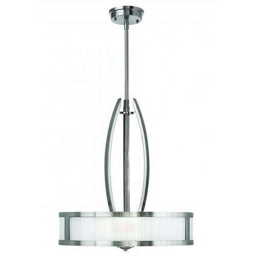 Hinkley Lampa wisząca hk/meridian/p elstead metalowa oprawa nowoczesna nikiel szczotkowany biała