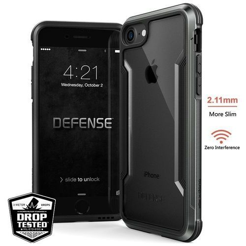 defense shield - etui aluminiowe iphone 8 / 7 (black) marki X-doria