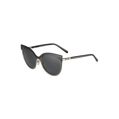 BURBERRY Okulary przeciwsłoneczne złoty / czarny, kolor żółty