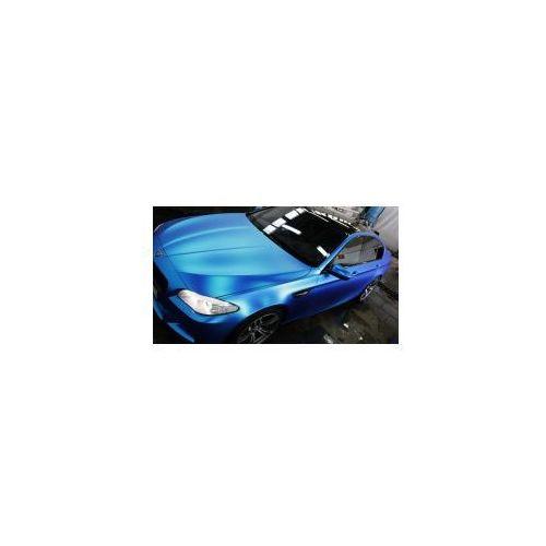 Folia satynowa matowa metaliczna niebieska szer 1,52 MMX20