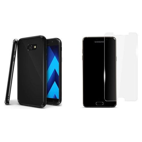 Zestaw | Rearth Ringke Fusion Shadow Black | Obudowa + szkło ochronne dla modelu Samsung Galaxy A5 2017