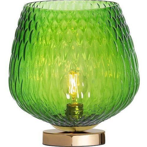 Loftowa LAMPA stołowa VENUS 41033113 Kaspa szklana LAMPKA nocna stojąca złota zielona