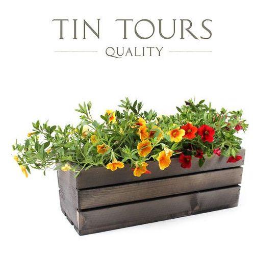 Tin tours sp.z o.o. Szara skrzynka drewniana 40x18x15h cm