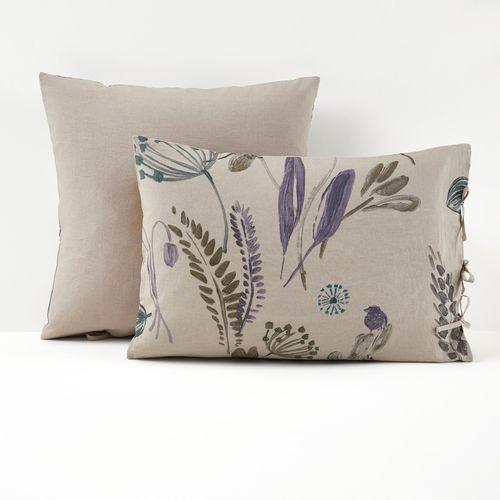 Poszewka na poduszkę, 100% dekatyzowanego lnu, craft garden marki La redoute interieurs