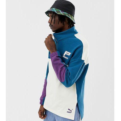 dd7f16f3 Pozostała odzież męska · organic cotton half zip sweat in blue exclusive at  asos - blue marki Puma