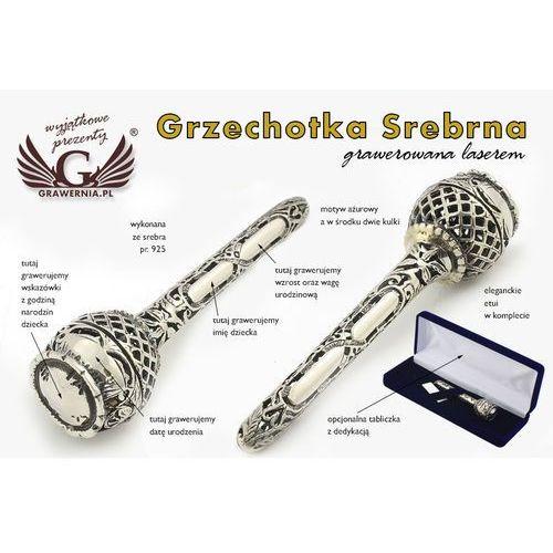 Grzechotka srebro - pamiątka chrztu świętego - wzór srb014 marki -