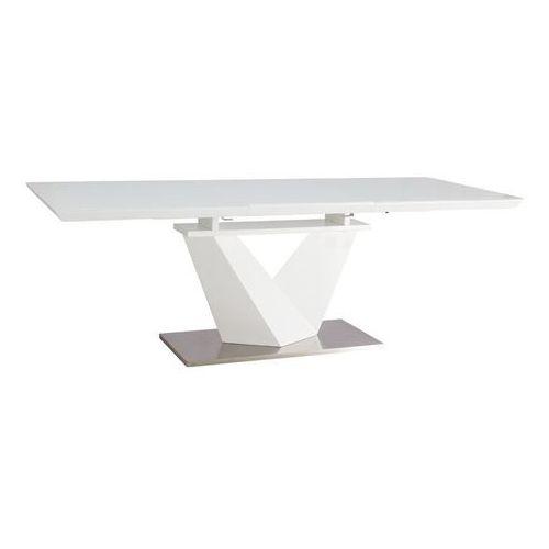 Stół  alaras iii biały 160(220)x90 - dostawa gratis! marki Signal
