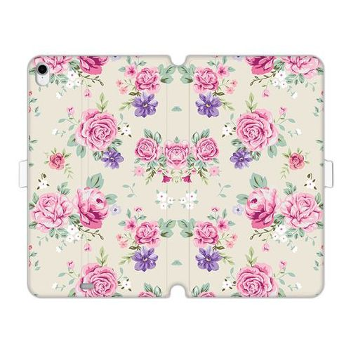 Apple iPad Pro 11 - etui na tablet Wallet Book Fantastic - pastelowe różyczki, kolor różowy