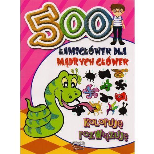 500 Łamigłówek dla mądrych główek Koloruję rozwiązuję