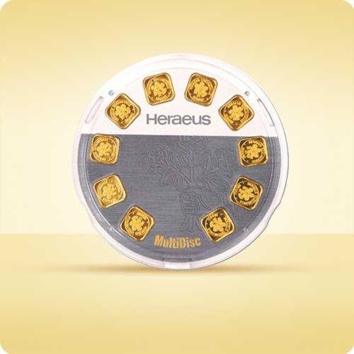 Argor-heraeus 10 x 1 g sztabka złota multidisc - wysyłka 24 h! - 24 h