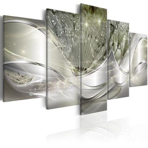 Obraz - Świecące dmuchawce (5-częściowy) zielony szeroki