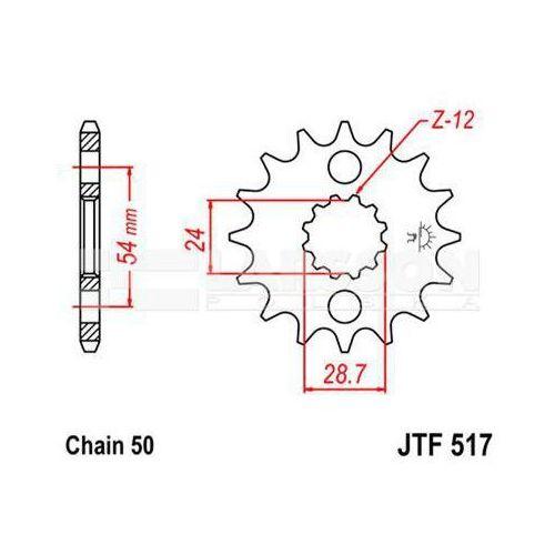 Jt sprockets Zębatka przednia jt f517-16, 16z, rozmiar 530 2200099 kawasaki zr 1100, gpz 900