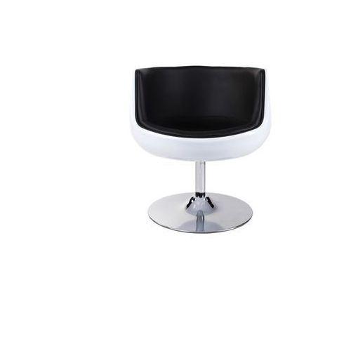 Fotel obrotowy Cognac - biały   czarny