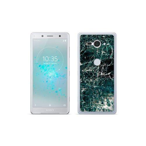 etuo Fantastic Case - Sony Xperia XZ2 Compact - etui na telefon Fantastic Case - zielony marmur, kolor zielony