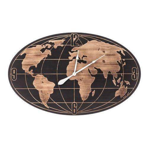 Dekoria Zegar ścienny World Map 109x6x69cm, 109 × 6 × 69 cm