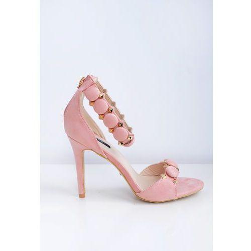Sandały na szpilce z ozdobnymi kulkami marki Zoio