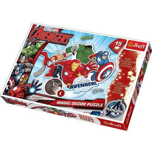 Trefl Puzzle 15 magic decor. avengers puzzle swiecace w ciemnosci (5900511146127)