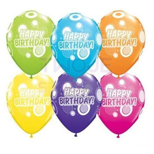 Twojestroje.pl Balon happy birthday mix 27cm 1szt (0071444369879)