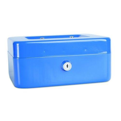 Kasetka na pieniądze DONAU, średnia, 200x90x160mm, niebieska