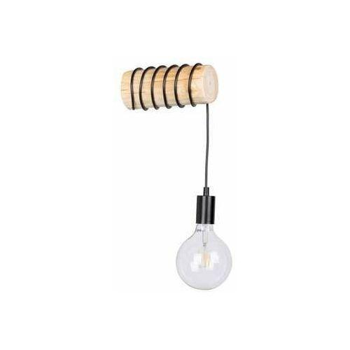 Spot light trabo short 6834150 kinkiet lampa ścienna 1x25w e27 drewno/czarny