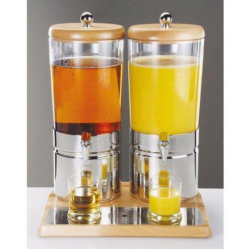 Aps germany Dyspenser do soków 2 x 6 l wood duo top fresh aps-10740