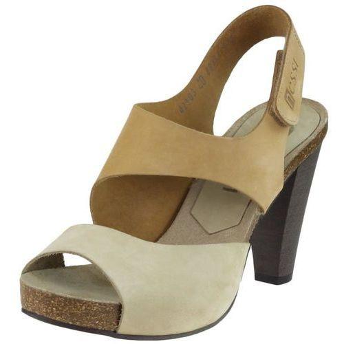 Sandały Nessi 42103 - Beż 114 + Camel 112