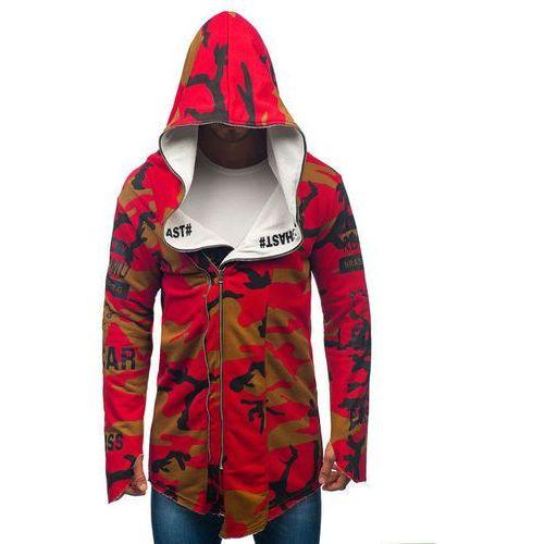 Bluza męska z kapturem z nadrukiem moro-czerwona denley 0796-1 marki Athletic