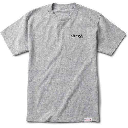 koszulka DIAMOND - Signature Og Script Tee - Sc Heather Grey (HTGR) rozmiar: XL