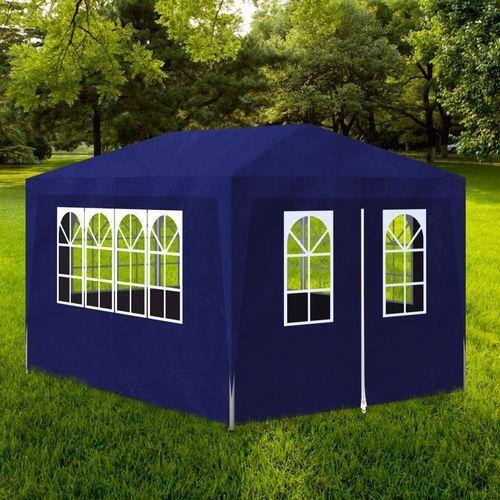namiot ogrodowy, imprezowy 3x4, 4 ścianki, niebieski marki Vidaxl