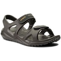 Crocs Sandały - swiftwater river sandal m 203965 espresso/black