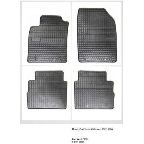 Dywaniki gumowe czarne z kompletem stoperów - Opel Vectra (C) Kombi, 2003-2008, 5907377541981