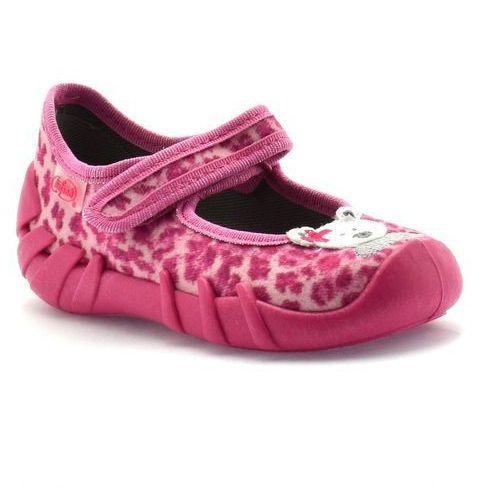 Kapcie dla dzieci Befado 109P156 Speedy - Różowy   Fuksja, kolor różowy