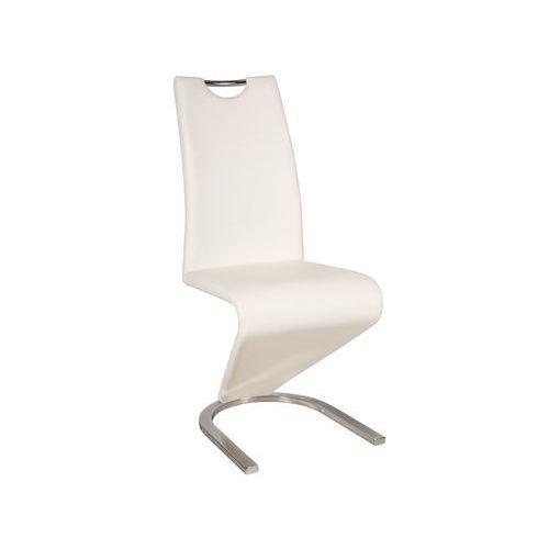 Krzesło H-090 Chrom Biały
