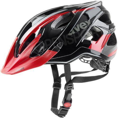 Kask rowerowy stivo c 52-57 cm czarny / czerwony marki Uvex