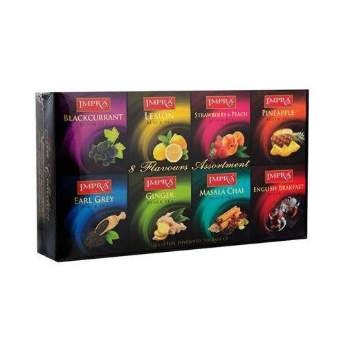 IMPRA TEA 96x2g Zestaw czarnych herbat aromatyzowanych kopertowanych premium